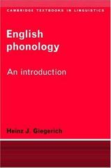 English Phonology 0 9780521336031 0521336031