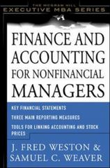 Finance and Accounting for Nonfinancial Managers 1st edition 9780071364331 0071364331