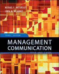 Management Communication 3rd edition 9780073525051 0073525057