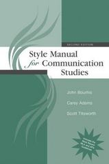 Style Manual for Communication Studies 2nd Edition 9780073534206 007353420X