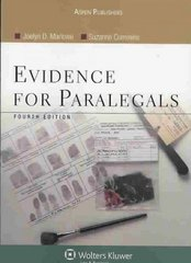 Evidence for Paralegals 4th Edition 9780735558526 0735558523