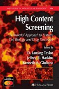 High Content Screening 1st edition 9781588297310 1588297314