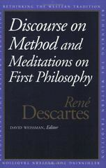 Discourse on the Method and Meditations on First Philosophy 0 9780300067736 0300067739