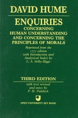 Enquiries Concerning Human Understanding and Concerning the Principles of Morals 3rd edition 9780198245360 019824536X