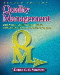 Quality Management 2nd edition 9780135005101 0135005108
