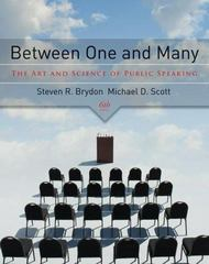 Between One and Many: The Art and Science of Public Speaking 6th Edition 9780073385037 0073385034