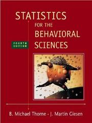 Statistics for the Behavioral Sciences 4th edition 9780072832518 0072832517