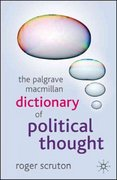 The Palgrave Macmillan Dictionary of Political Thought 1st edition 9781403989529 1403989524