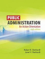 Public Administration 6th edition 9780495502821 0495502820