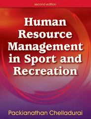 Human Resource Management in Sport and Recreation 2nd Edition 9780736055888 0736055886