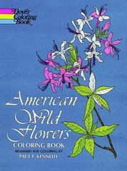 American Wild Flowers Coloring Book 0 9780486200958 0486200957