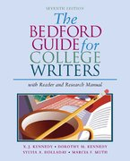 The Bedford Guide for College Writers 7th edition 9780312412531 0312412533