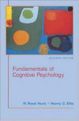 Fundamentals of Cognitive Psychology 7th Edition 9780072858952 0072858958