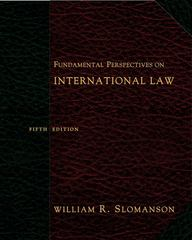 Fundamental Perspectives on International Law 5th edition 9780495007456 0495007455