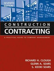 Construction Contracting 7th edition 9780471449881 0471449881