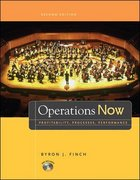 Operations Now: Profitability, Process, Performance with Student DVD 2nd edition 9780073129174 0073129178