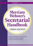 Merriam-Webster's Secretarial Handbook 3rd edition 9780877792369 0877792364