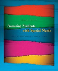 Assessing Students with Special Needs 7th Edition 9780131961913 0131961918