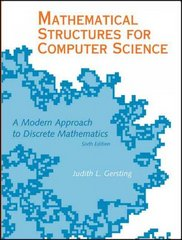 Mathematical Structures for Computer Science 6th edition 9780716768647 071676864X