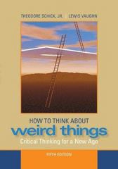 How to Think about Weird Things 5th edition 9780073386621 0073386626