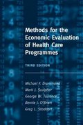 Methods for the Economic Evaluation of Health Care Programmes 3rd Edition 9780198529453 0198529457