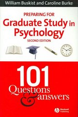 Preparing for Graduate Study in Psychology 2nd edition 9781405140522 1405140526