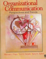 Organizational Communication 5th Edition 9781412916844 1412916844