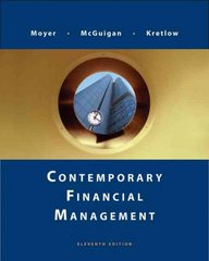 Contemporary Financial Management (with Thomson ONE) 11th edition 9780324653502 0324653506