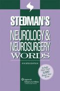 Stedman's Neurology & Neurosurgery Words 4th edition 9780781796422 0781796423