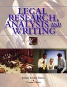 Legal Research, Analysis and Writing 2nd edition 9780131188884 0131188887