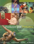 Evolution and Prehistory 7th edition 9780534610166 0534610161
