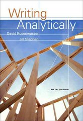 Writing Analytically 5th edition 9781413033106 1413033105