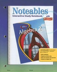 Glencoe Algebra 2, Noteables: Interactive Study Notebook with Foldables 1st edition 9780078682094 0078682096