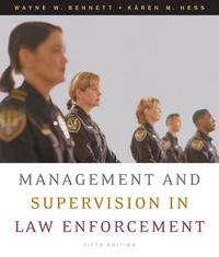 Management and Supervision in Law Enforcement 5th edition 9780495093411 0495093416