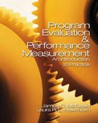 Program Evaluation and Performance Measurement 0 9781412906685 1412906687