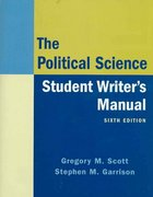 The Political Science Student Writer's Manual 6th edition 9780136029458 0136029450