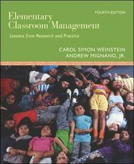 Elementary Classroom Management: Lessons from Research and Practice 4th Edition 9780073010366 0073010367