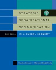 Strategic Organizational Communication 6th Edition 9780534636210 0534636217