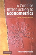 A Concise Introduction to Econometrics 0 9780521520904 0521520908