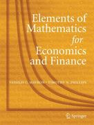 Elements of Mathematics for Economics and Finance 0 9781846285608 1846285607