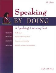 Speaking by Doing 7th edition 9780844257617 0844257613