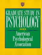 Graduate Study in Psychology 2000 33rd edition 9781557986603 1557986606