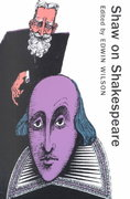 Shaw on Shakespeare 0 9781557835611 1557835616