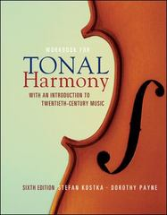 Workbook/Tonal Harmony 6th edition 9780073327150 0073327158