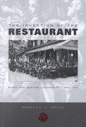The Invention of the Restaurant 1st Edition 9780674006850 0674006852