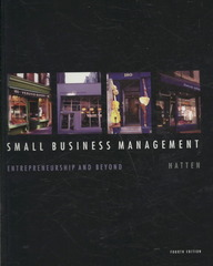 Small Business Management 4th edition 9780618999361 0618999361