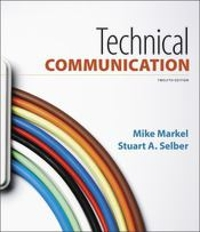 Technical Communication 12th Edition 9781319107888 1319107885