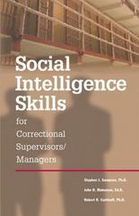 Social Intelligence Skills for Correctional Managers 0 9780874259094 0874259096