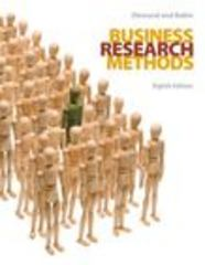 Business Research Methods (Book Only) 8th edition 9780324320626 0324320620