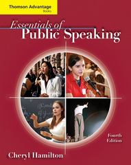 Cengage Advantage Books: Essentials of Public Speaking 4th Edition 9780495504245 0495504246